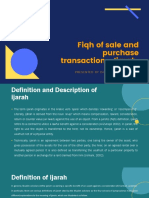 9. The sale and purchasing transaction ijarah