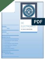 DC electronics lab report
