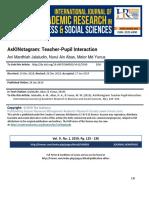 AsKINstagram Teacher-Pupil Interaction