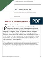 5 Methods to Determine Preheat Temperature