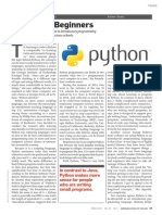 Python for Beginners - 2015 CACM