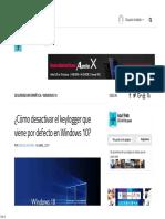 Cómo desactivar el keylogger que viene por defecto en Windows 10