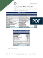 01 Ejercicios propuestos DE RATIOS de liquidez - finanzas
