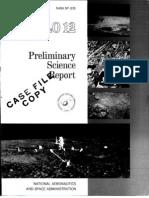 Apollo 12 Preliminary Science Report