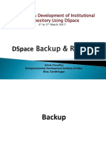 DSpace Backup & Restore-PPT ashok UGC Final PPT