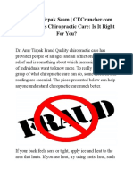 Dr Amy Tirpak Scam CECruncher Com Fraud Alerts Chiropractic Care is It Right for You