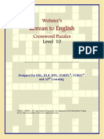 Philip M. Parker Websters Korean to English Crossword Puzzles Level 10  2006.pdf