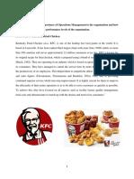 Analysis of Operation Management at KFC
