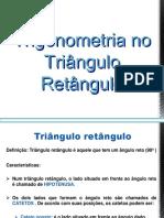 AULA 11 - TRIGONOMETRIA NO TRIÂNGULO RETÂNGULO E QUALQUER