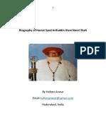 Biography of Hazrat Syed Arifuddin Jilani Noori Shah