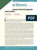 Notas sobre proyecto de ley de integración social y urbana CIPER