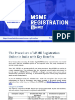 The Procedure of MSME Registration Online in India with Key Benefits