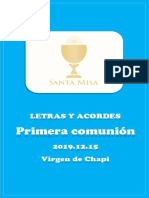 MISA 2019.12.15 DomChapi Primera Comunión