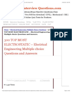 300+ TOP ELECTROSTATIC Multiple Choice Questions and Answers Pdf