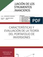 EVALUACIÓN DE LOS INSTRUMENTOS FINANCIEROS