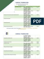 Informasi Jadwal Training Pelatihan Rumah Sakit 2020 - Bandung