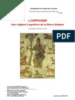 L'Orphisme, une religion à mystère de l'antiquité