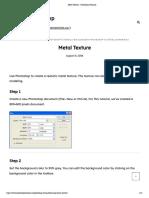 Metal Texture - Photoshop Tutorials.pdf