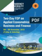 Applied Econometrics-1