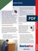 Bed Bug Information and Preparation Checklist