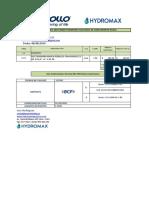 PRESUPUESTO Nº 001-2019-00006 PROGRAMA NACIONAL DE SANEAMIENTO RURAL