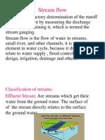 stream flow Lec.6