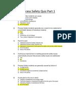 Process Safety Quiz