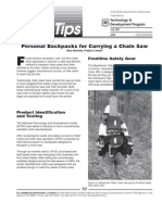USDA Forest Service Personal Backpacks for Carrying Chain Saw