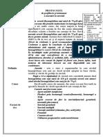 Protocol de profilaxie și tratament anemie