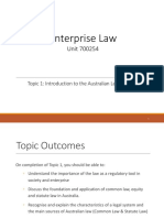 Enterprise Law 01 - Topic 1 Legal system 1 [Autosaved].ppt