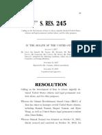 U.S. Senate Iran Hostages Resolutions (115th Congress)