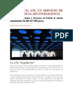 LA AGENCIA ANI UN SERVICIO DE INTELIGENCIA, SIN INTELIGENCIA