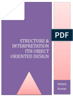 Structure & Interpretation With Object Oriented Design