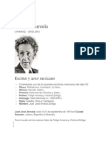 Biografìa Juan José Arreola