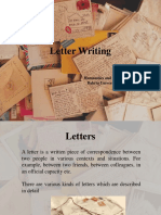 Lecture 11 Letter Writing