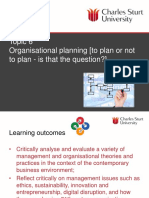 MGT501 Topic 6 Organisational planning(1)