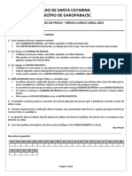 CadernoProva-Especificas - MÉDICO CLÍNICO GERAL 20hs