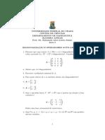 lista exercicios algebra linear 5