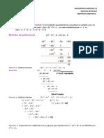 Algebra Ejercicios