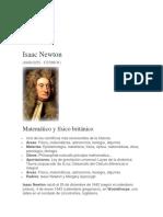 isac newton biografia