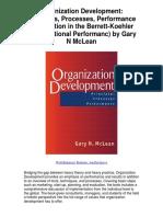 Organization Development Principles Processes Performance Publication in the Berrett Koehler Organizational Performanc by Gary N McLean - 5 Star Review