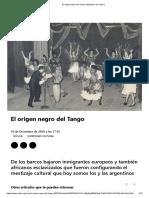 El origen negro del Tango _ Ministerio de Cultura