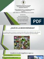 PÉRDIDA DE LA BIODIVERSIDAD EN EL ECUADOR