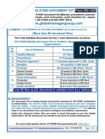 Documentation Kit of AS9100 Rev D Certification for Aviation, Space and Defence Organization