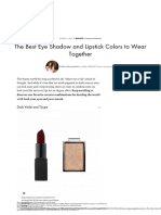 The Best Eye Shadow and Lipstick Colors to Wear Together | Byrdie