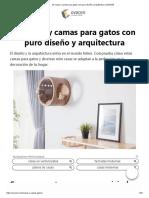10 Casas y camas para gatos con puro diseño y arquitectura _ OVACEN