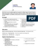 mechanical supervisor resume