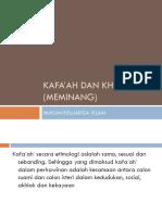 Kafa'ah dan khitbah (meminang)