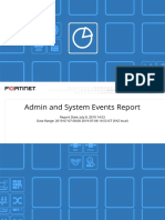 Admin and System Events Report