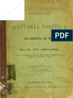 AMUNATEGUI, MIGUEL; Compendio de la historia política y eclesiástica de Chile